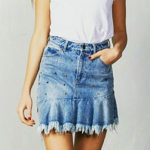 🔥JUST IN🔥Studded denim skirt
